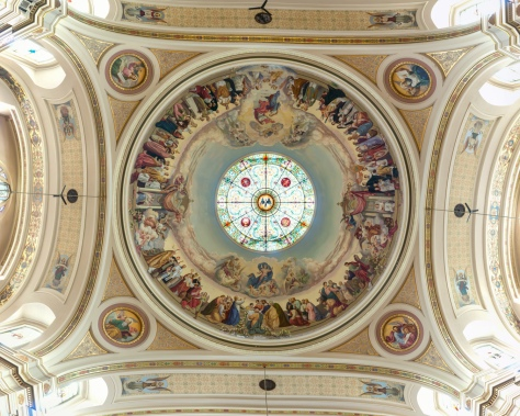 The dome of St Hyacinth Basilica, Chicago.
