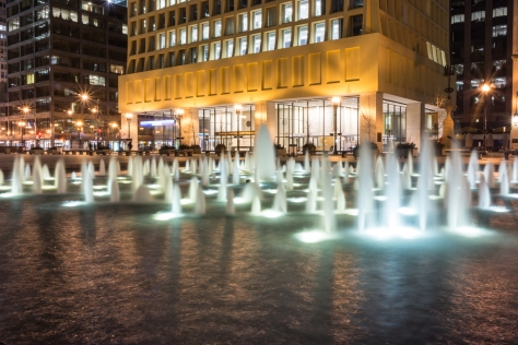 Taken the first night of spring in Chicago, the water flows! A sure sign that we are putting winter behind us.