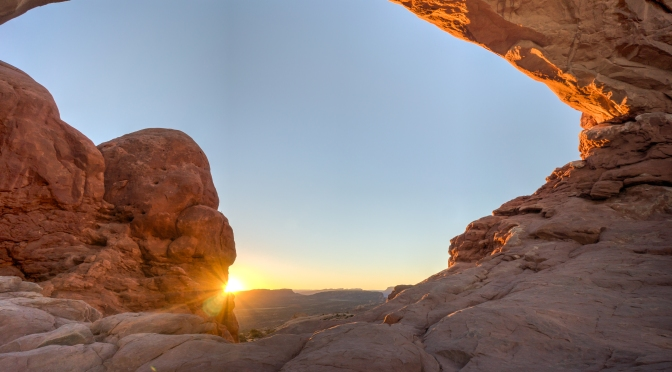 Arches National Park- North Window Sunrise