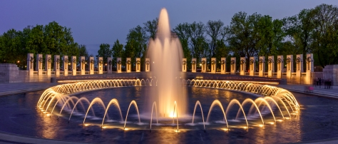 This is the WWII Memorial at night in Washington DC. The only state not lit up that night was Nebraska.