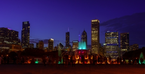 The photowalk stopped at Buckingham Fountain for obvious reasons!