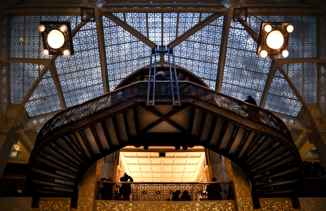 The face of the atrium in the Rookery atrium in Chicago.