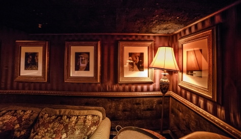 Red Photos and light in HOB Foundation Room