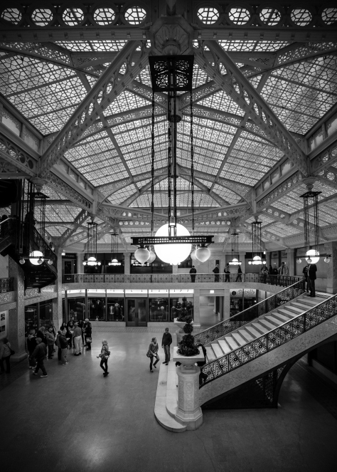 The Rookery in Chicago is one of the oldest highrises ever.