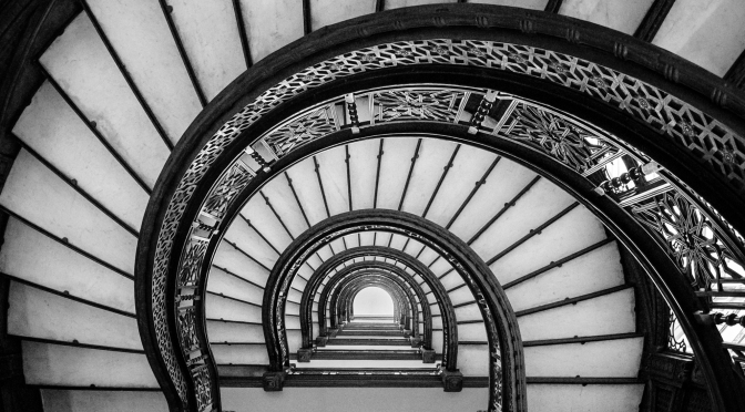 Up the staircase